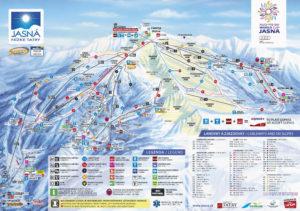 Карта горнолыжного курорта Ясна